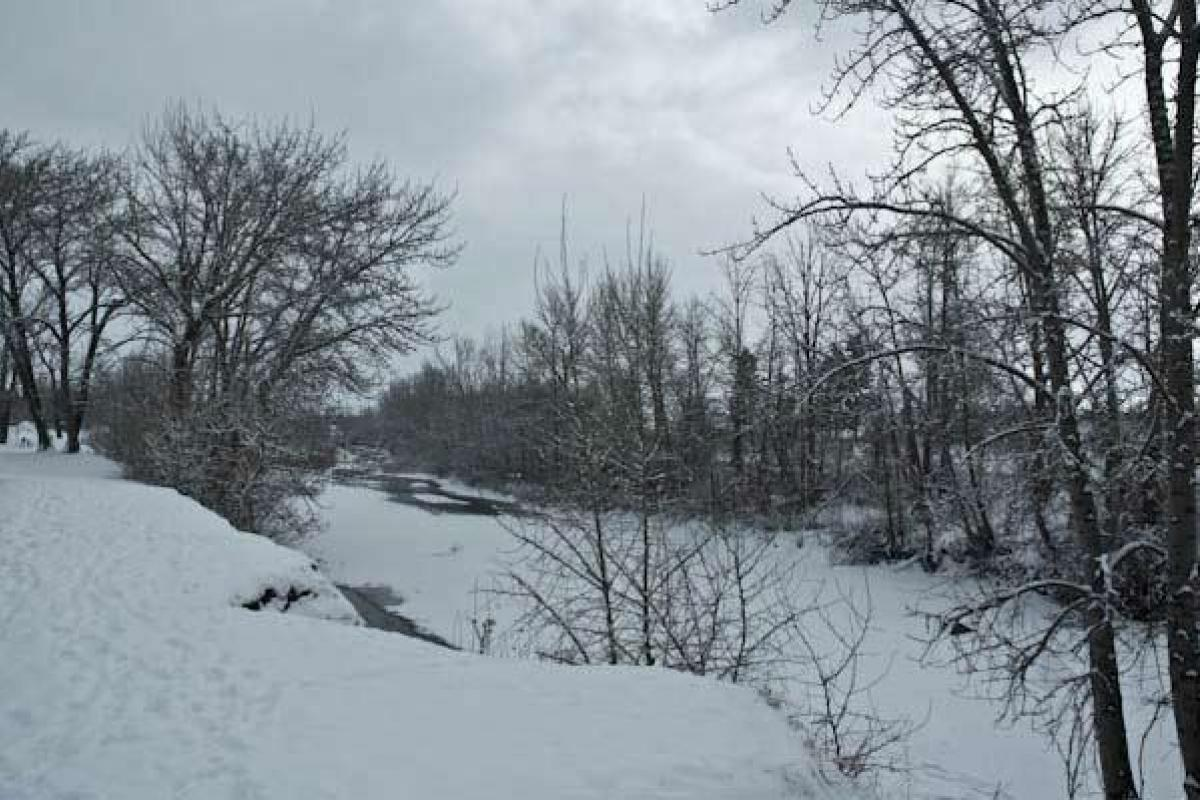 Overlooking The Winter River