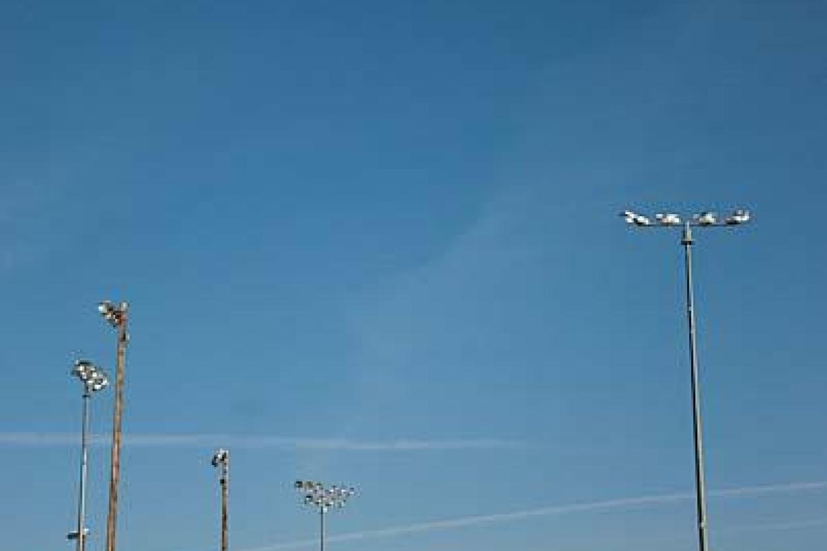 Light Array Over Baseball Field