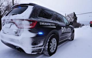 LGPD Patrol Car in snow